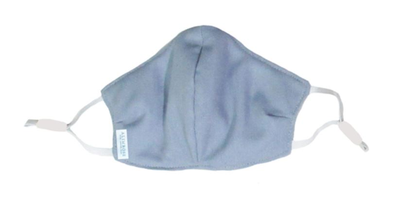 YOUTH 3 Layer Face Mask - Blue Grey Linen
