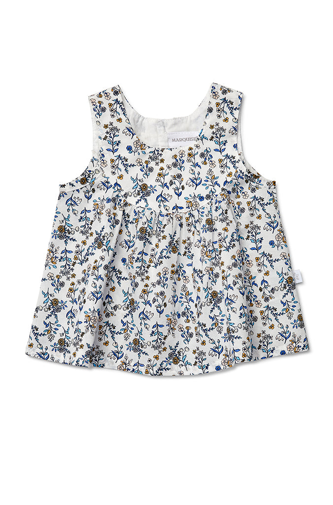 Dress with Bloomer Blue Floral