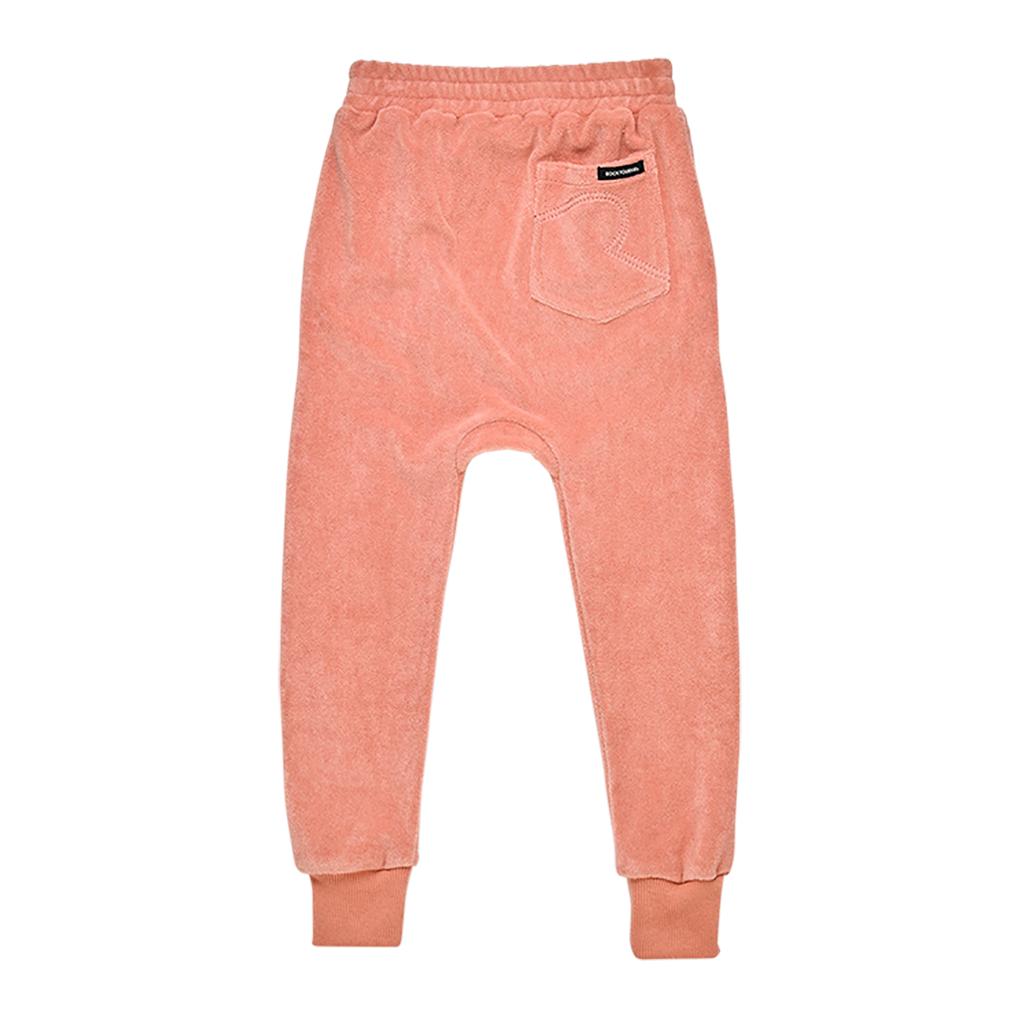 TERRY TOWELLING - TRACK PANTS MUSK PINK