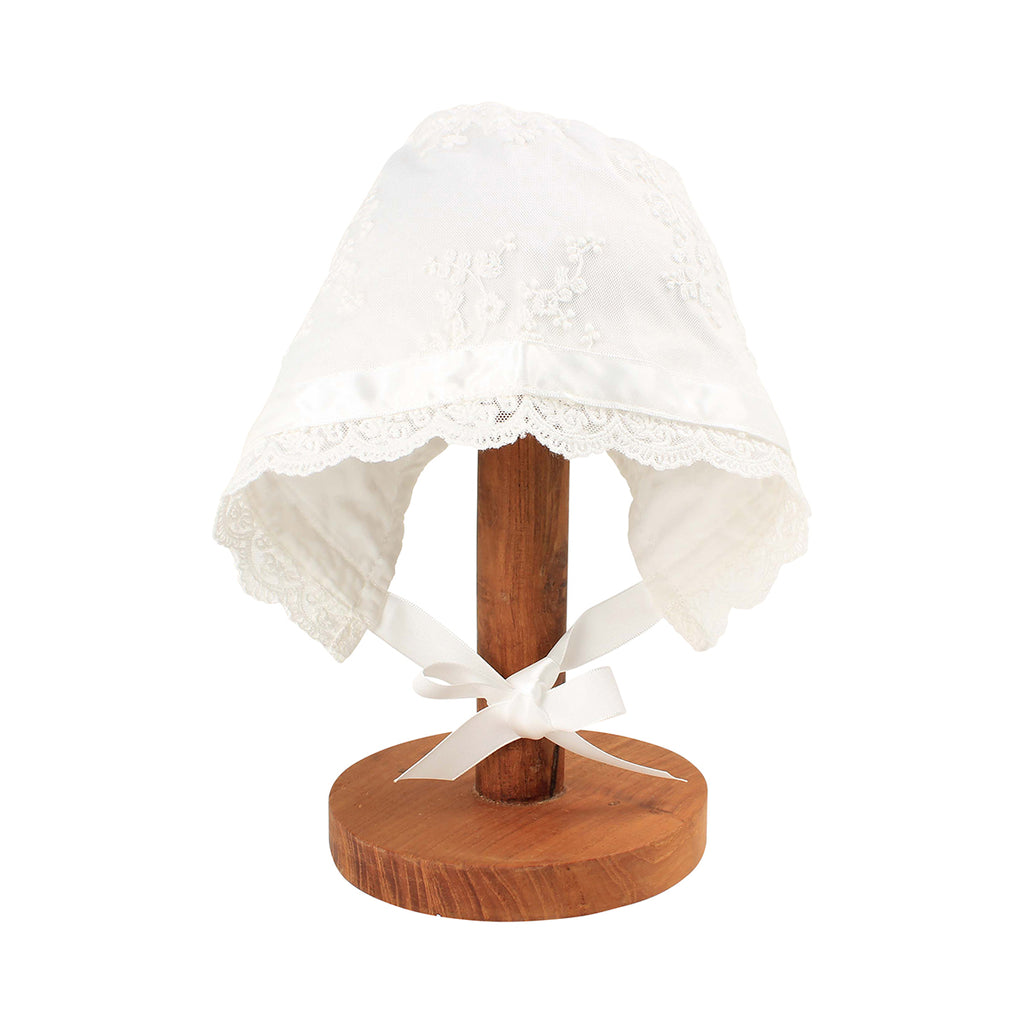 LACE BONNET IVORY
