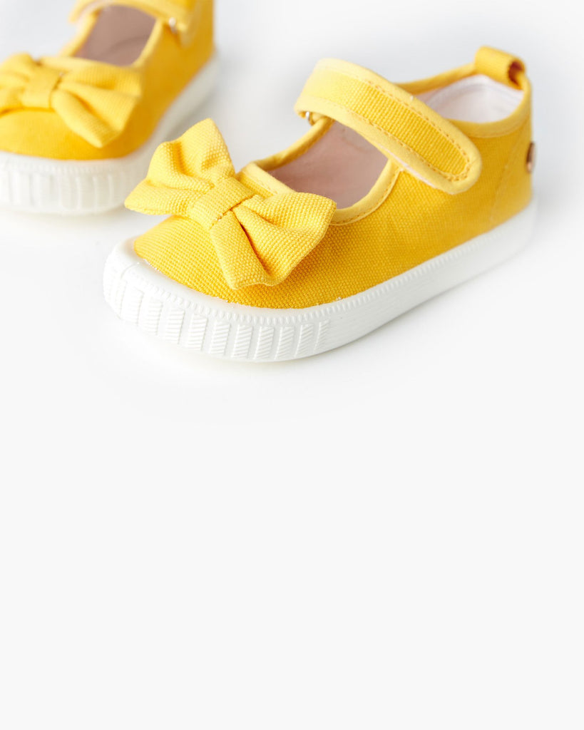 Mary Jane Bow Canvas Yellow
