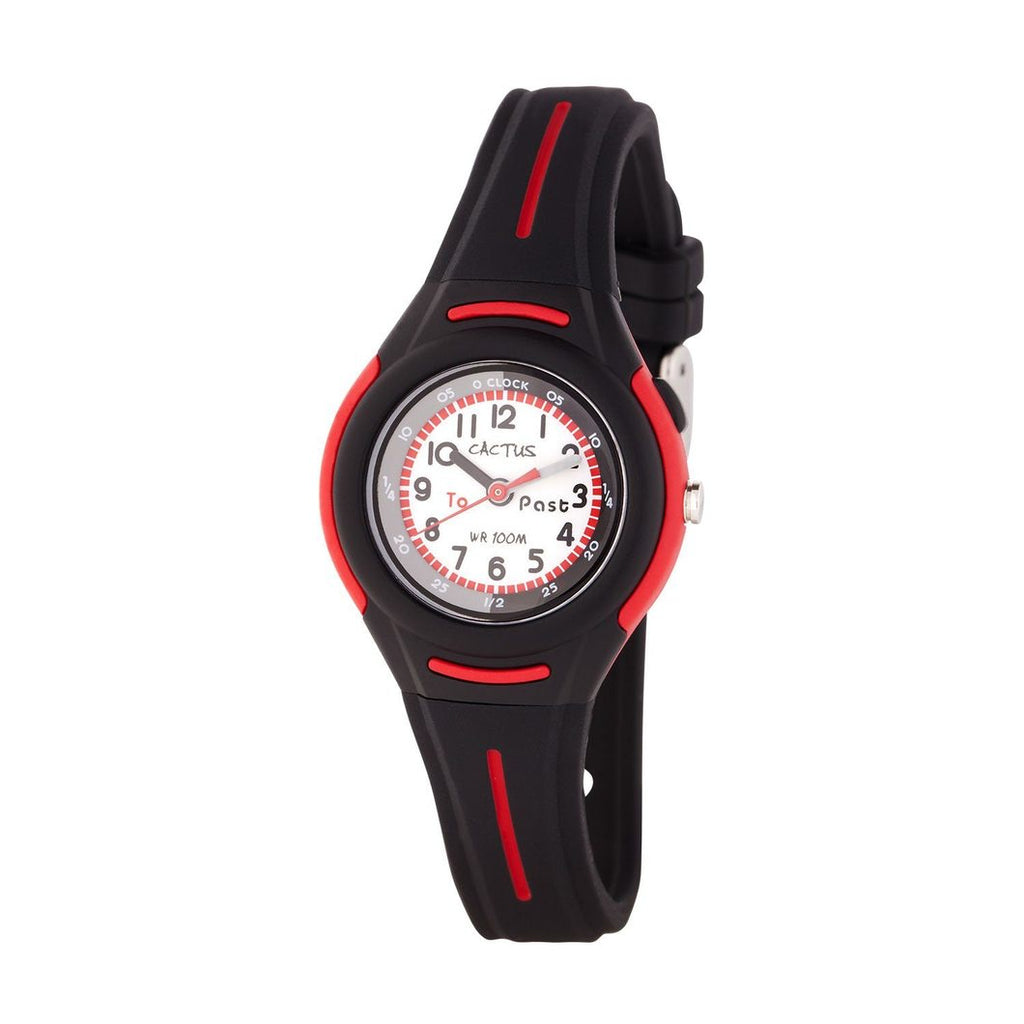 Petite - Time Teacher Watch for Kids - Black
