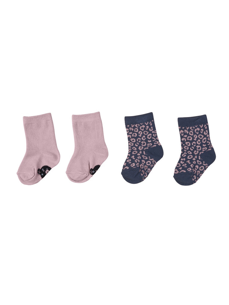 WILD ROSE / DITZY ANIMAL 2PK SOCKS