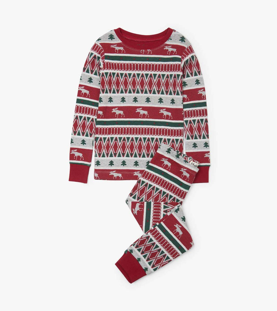 Winter Fair Isle Cotton Pyjama Set