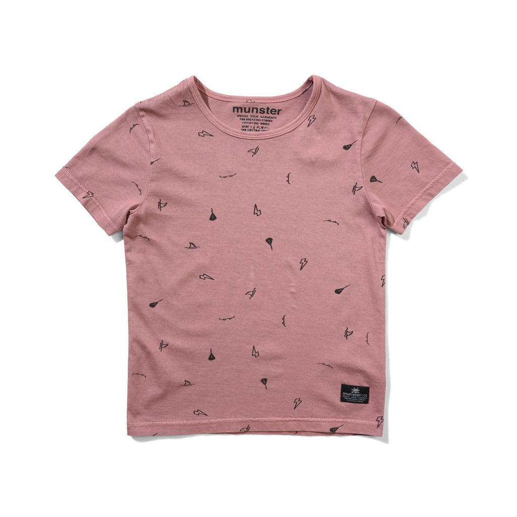 ASHCON TEE WASHED DUSTY PINK