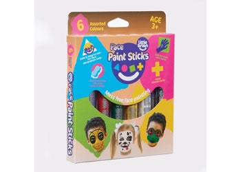 Little Brian Face Paint Sticks Classic 6 pk