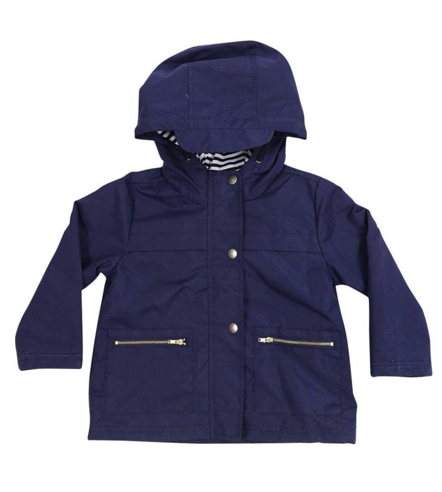 Raincoat Navy Cotton Lined 4Y