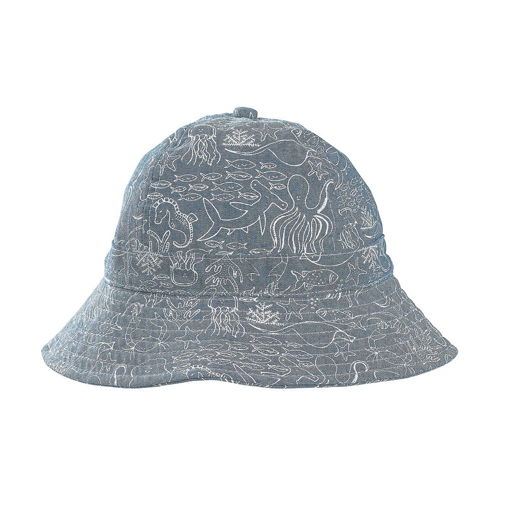 Chambray Pirate Infant Hat