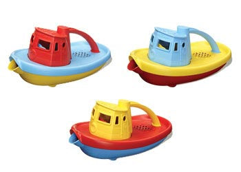 Green Toy Tug Boat