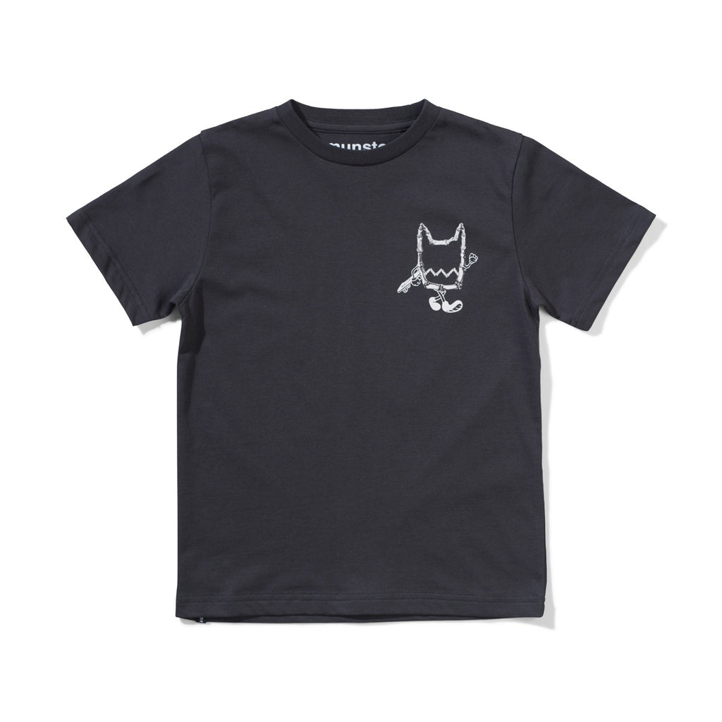 PUNKED TEE - SOFT BLACK