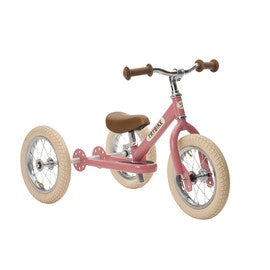 Pink Vintage Trybike, Cream Tyres and Chrome (3 wheel)