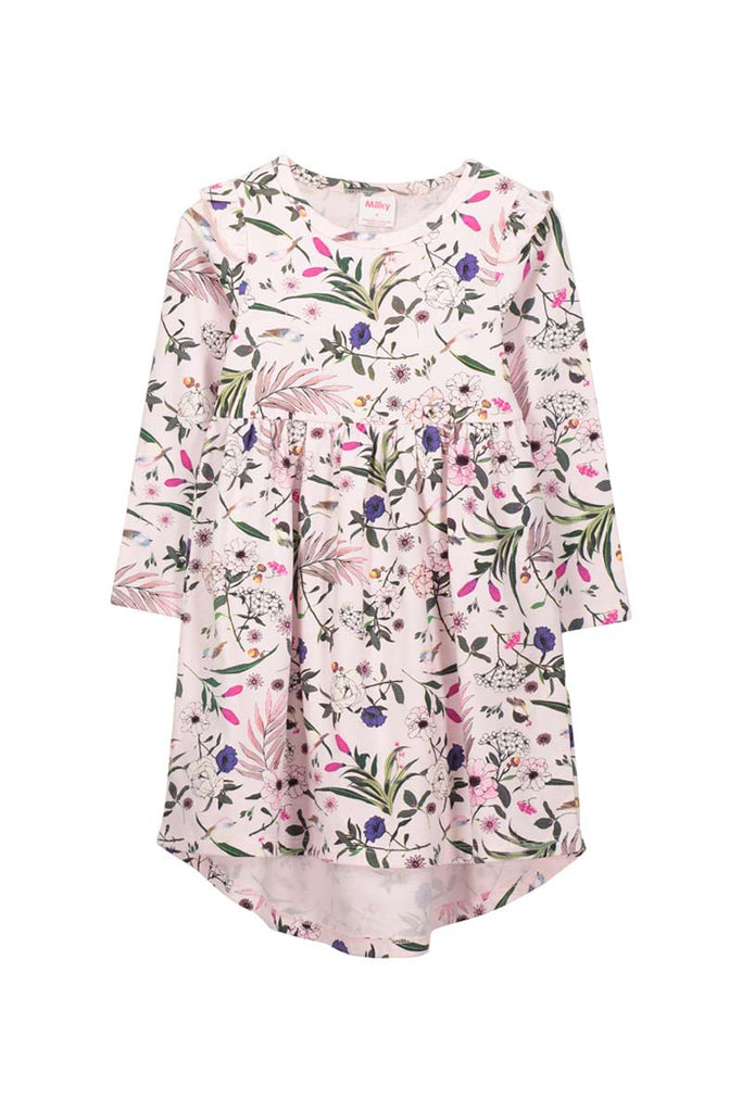 PRETTY FLORAL DRESS BLOSSOM PINK
