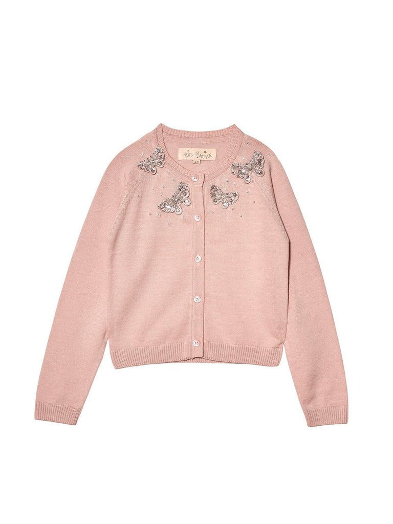 MADAME BUTTERFLY CARDIGAN PINK CHABLIS