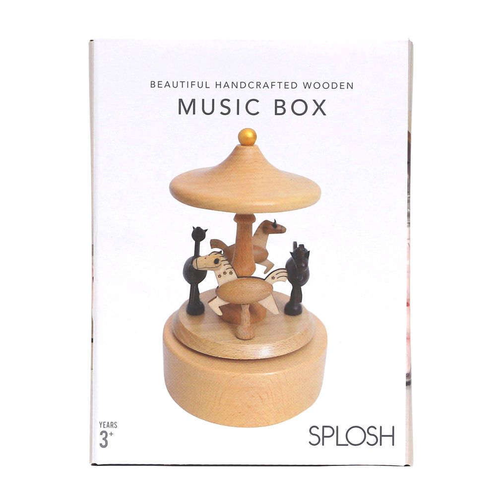 Baby Carousel Wooden Music Box