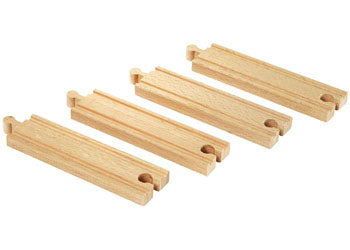 BRIO Tracks - Medium Straight Tracks, 4 pieces