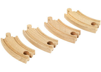 BRIO Tracks - Short Curved Tracks, 4 pieces
