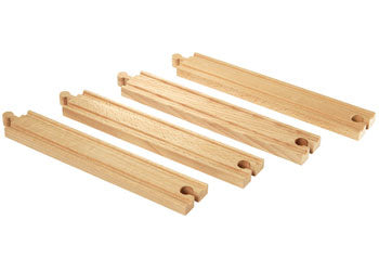 BRIO Tracks - Long Straight Tracks, 4 pieces