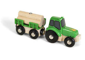 BRIO Vehicle - Farm Tractor with Load, 3 pieces
