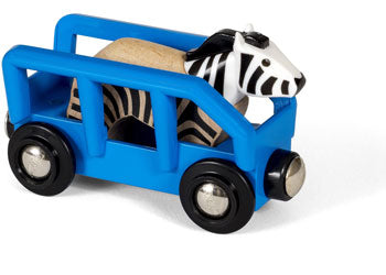BRIO Vehicle - Safari Zebra and Wagon