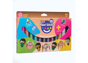 Little Brian Face Paint Sticks Classic 12 pk