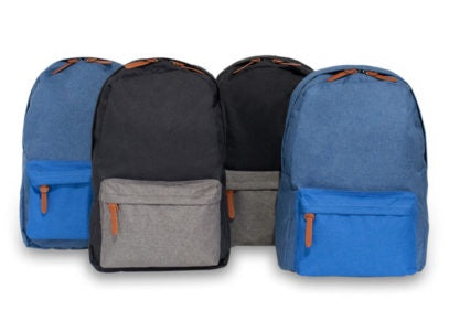 Back Pack Canvas with Front Pocket Assorted