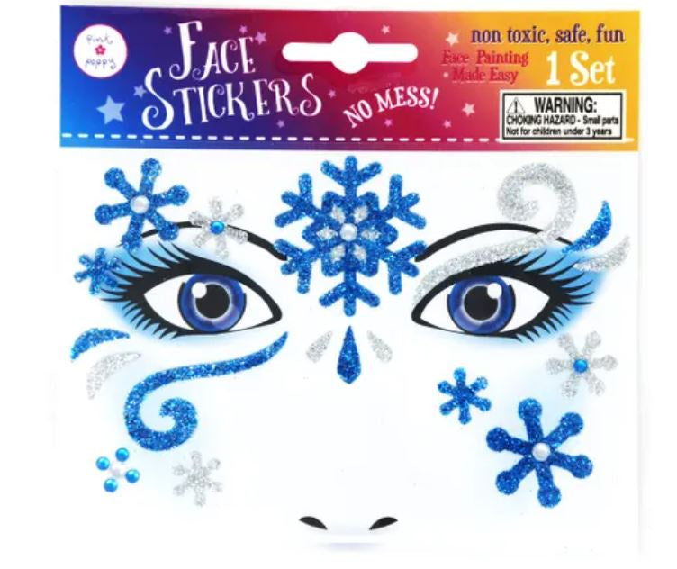 Snow Princess Snowflake Face Sticker