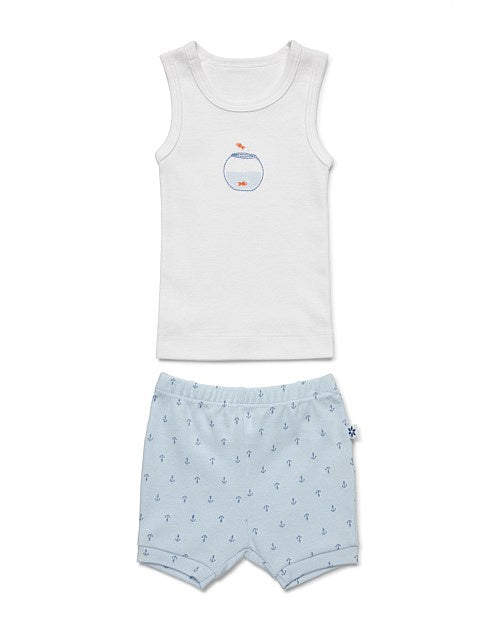 Singlet & Short Set Fish Bowl