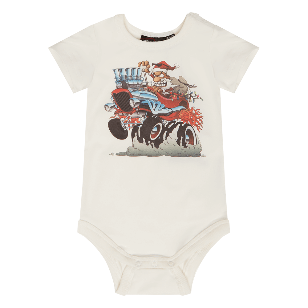 SANTA HOT ROD BODYSUIT