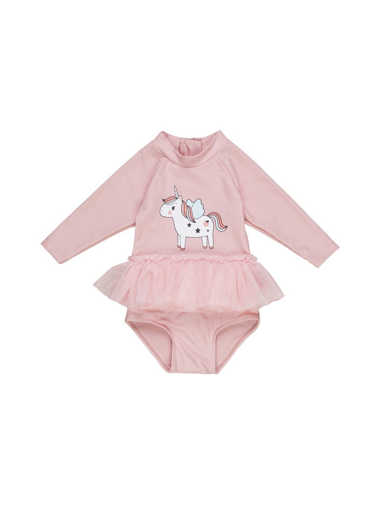 UNICORN LONG SLEEVE BALLET SWIMSUIT
