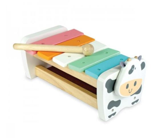 I'm Toy - Cow Xylophone Bench - Pastel