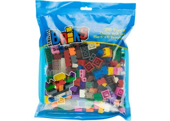 Strictly Briks-12 Colours with 6 x 6 Baseplate-216pcs