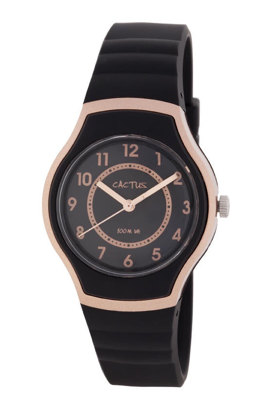 Cactus Watch Blk/Rose Gold