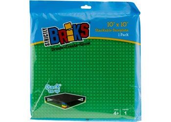Strictly Briks - 10x10 Single Baseplate-Green