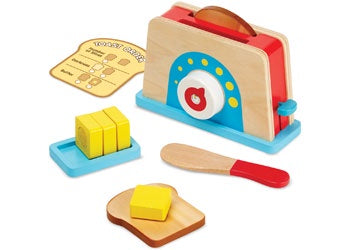 M&D - Let's Play House! Toaster, Bread & Butter Set