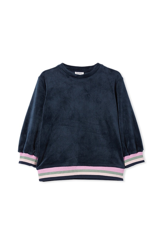 VELOUR TIPPING SWEAT TWILIGHT
