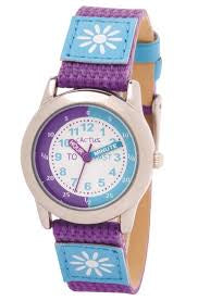 Cactus Watch Time Teacher Purple Flower