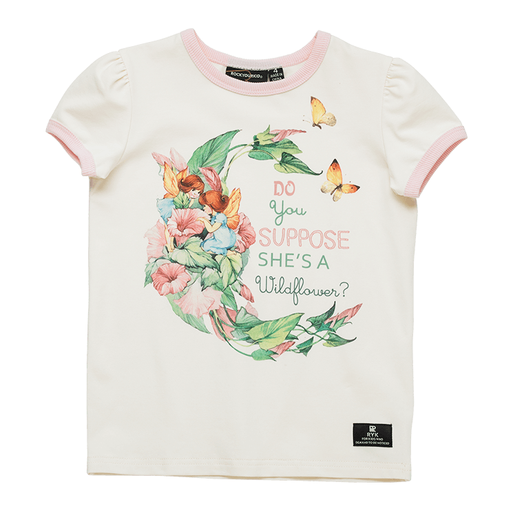 SHE'S A WILDFLOWER - SS RINGER T-SHIRT