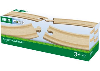 BRIO Tracks - Large Curved Tracks, 4 pieces