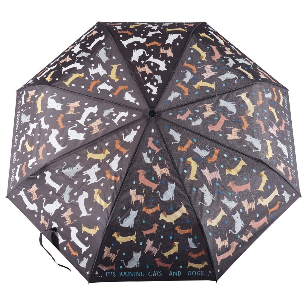 Floss & Rock Colour Changing Umbrella Large - Cats & Dogs