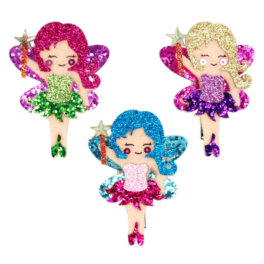 Glitter Fairy Hairclips Assorted