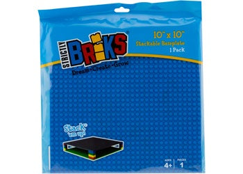 Strictly Briks - 10x10 Single Baseplate-Blue