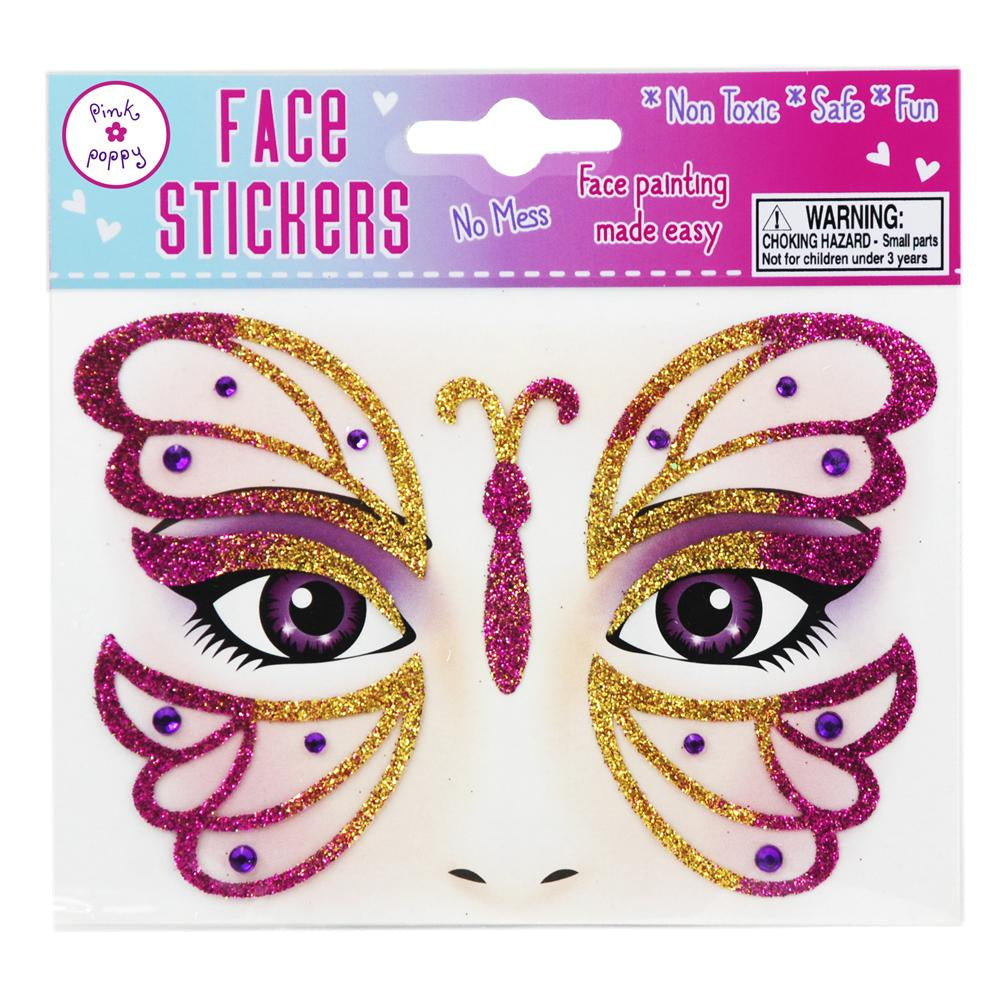 Face Stickers Butterfly