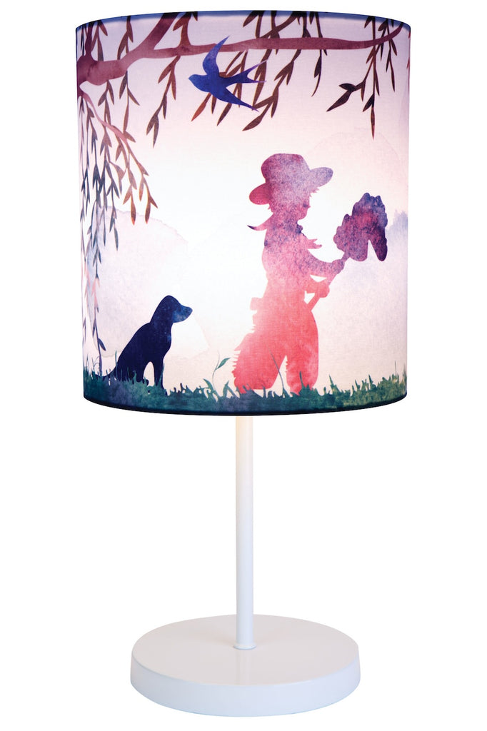 Cowboy Print Table Lamp