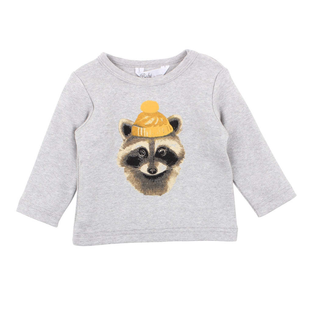 ZACK BADGER TEE PEPPER MARLE