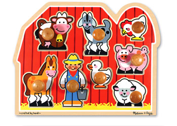 M&D - Large Farm Jumbo Knob Puzzle - 8pc