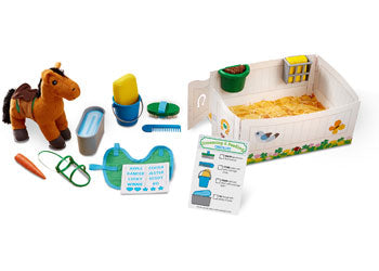 M&D - Feed & Groom Horse Care Play Set