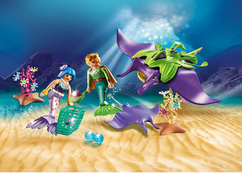 Playmobil - Mermaid with Sea Snail Gondola