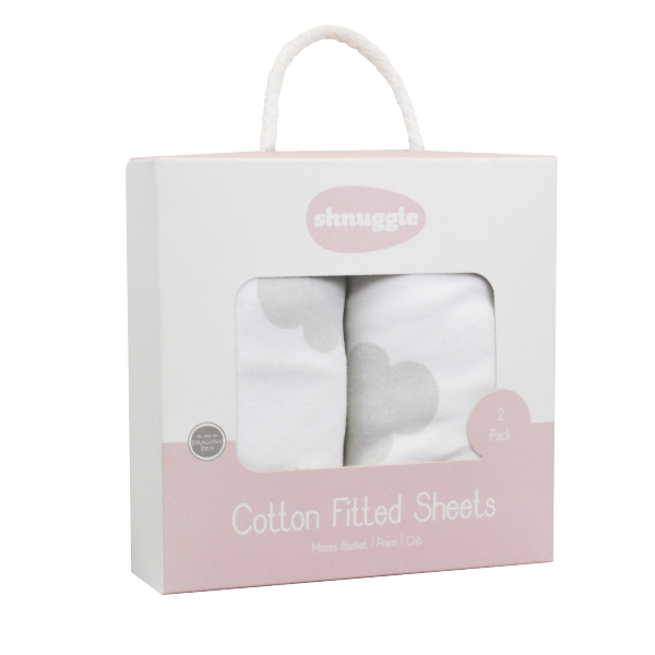 Shnuggle Fitted Sheets - Cloud
