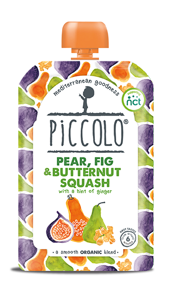 Piccolo Organic Pear, Fig & Butternut Squash with a hint of ginger (Stage 1 - 100g )