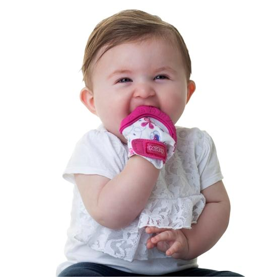 1pk Teething Mitten with Silicone - Sampan Butterfly